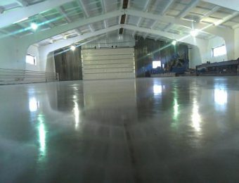 Монтаж наливных полов для склада