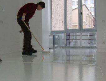 Монтаж цементно-полиуретановых полов
