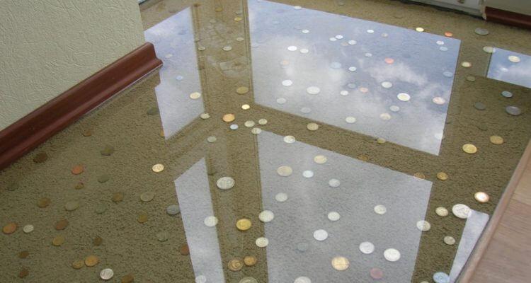 Прозрачный наливной пол в Москве