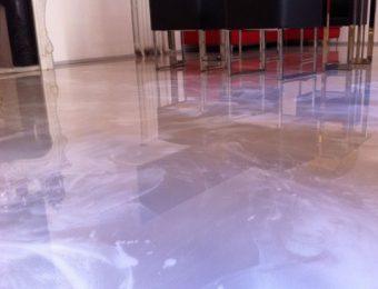 Наливной пол под мрамор