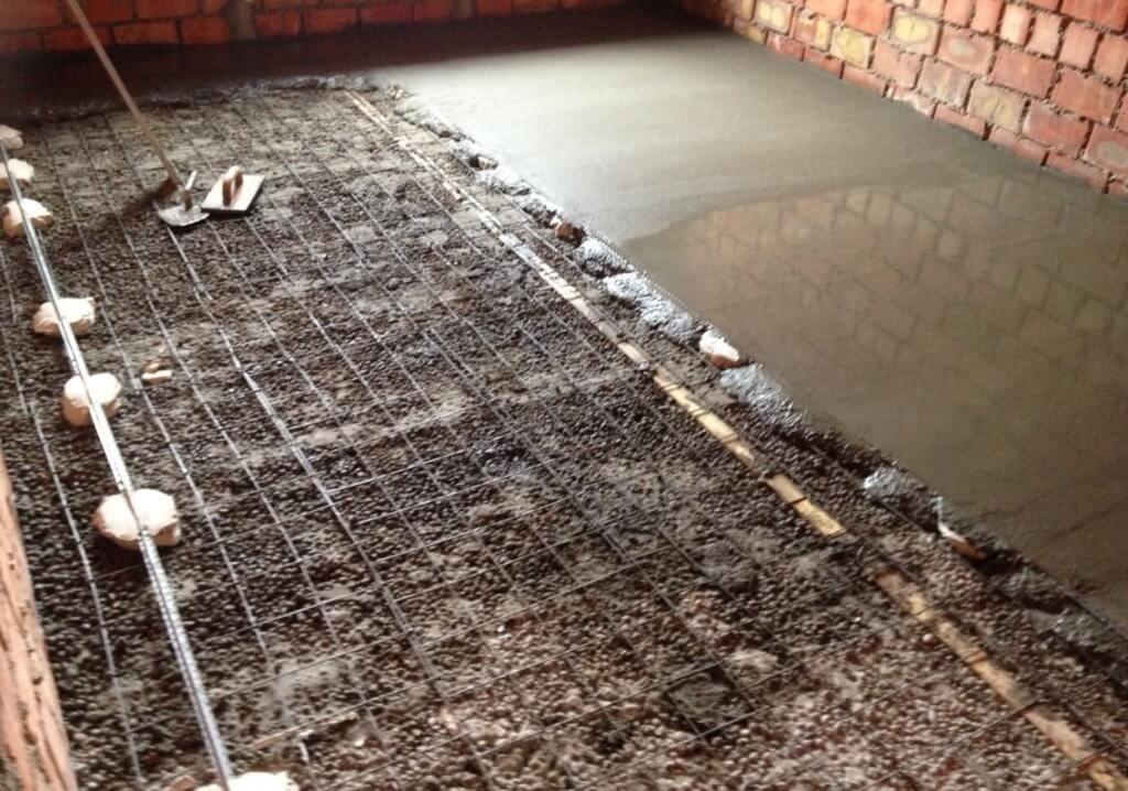 расценки на бетонные полы с армированием