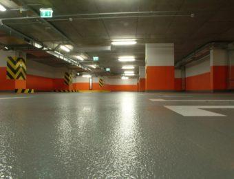 Наливной пол для парковки