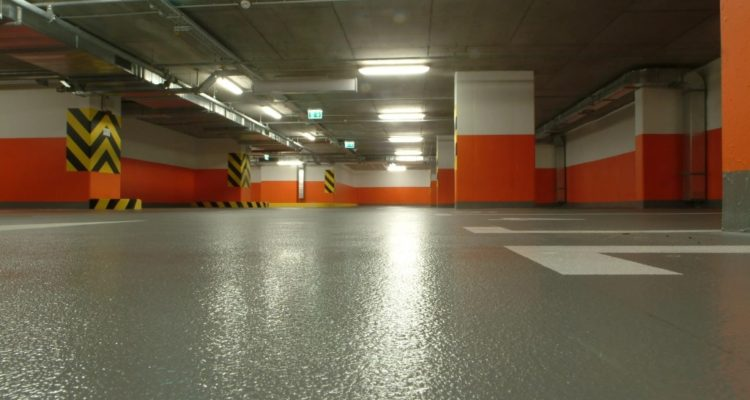 Наливной пол для паркинга в Москве