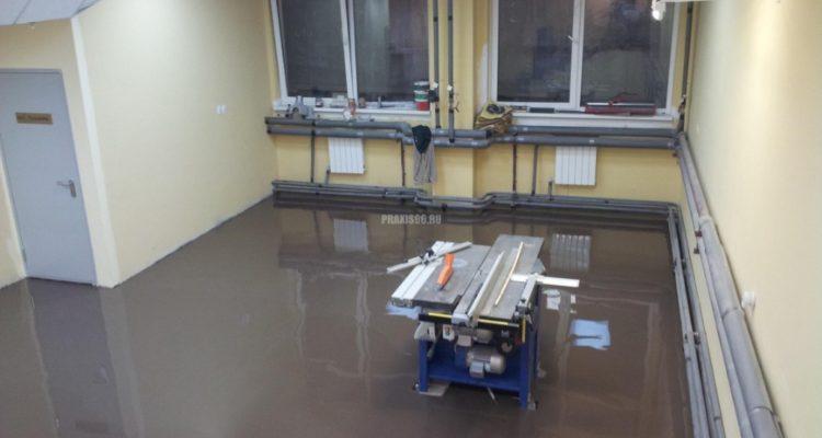 Наливной пол для ремонтных мастерских в Москве