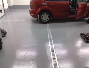 Наливной пол для автомойки