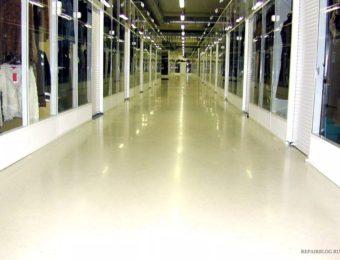 Наливной пол для торговых центров под ключ